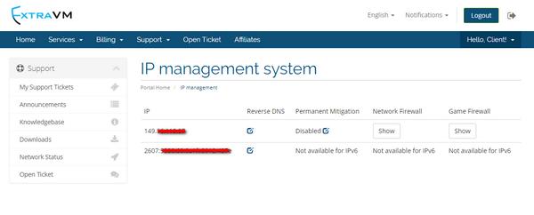 IP Management - Knowledgebase - ExtraVM